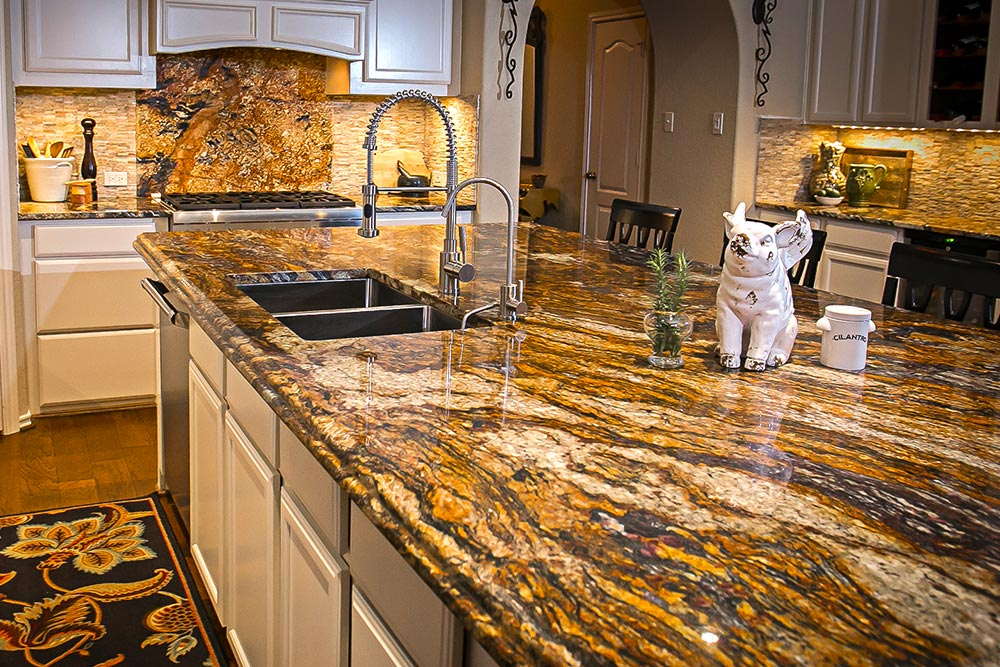Kitchen Remodel with granite countertops from Houston Granite Guy