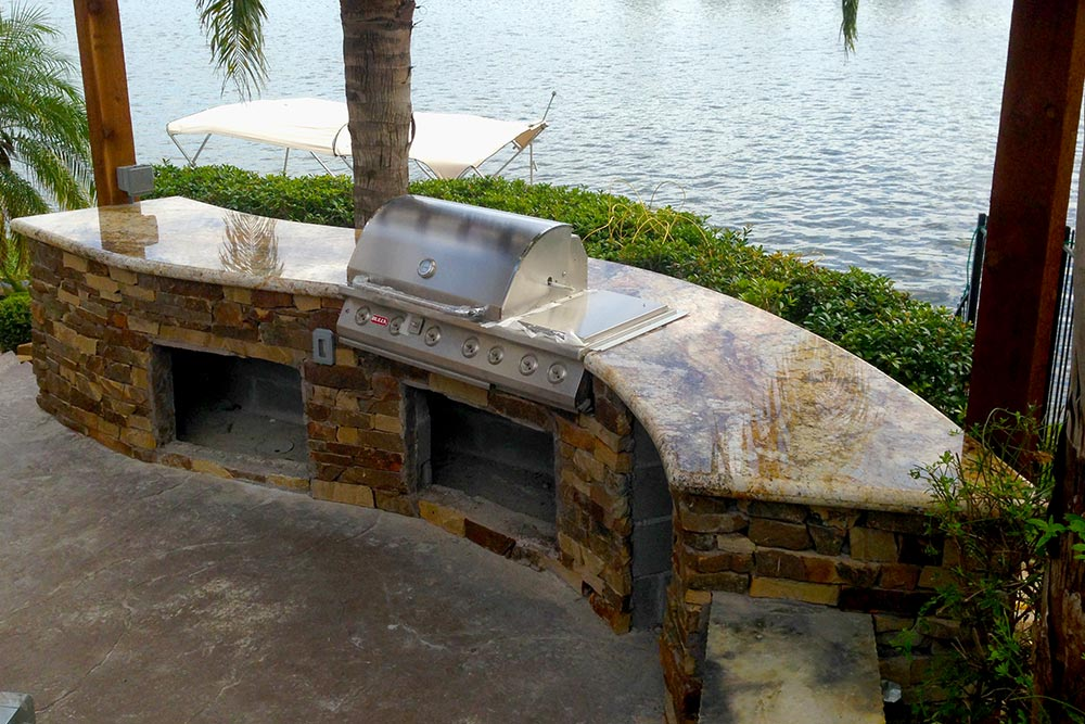 Granite Countertops Outdoor Island Houston Granite Guy