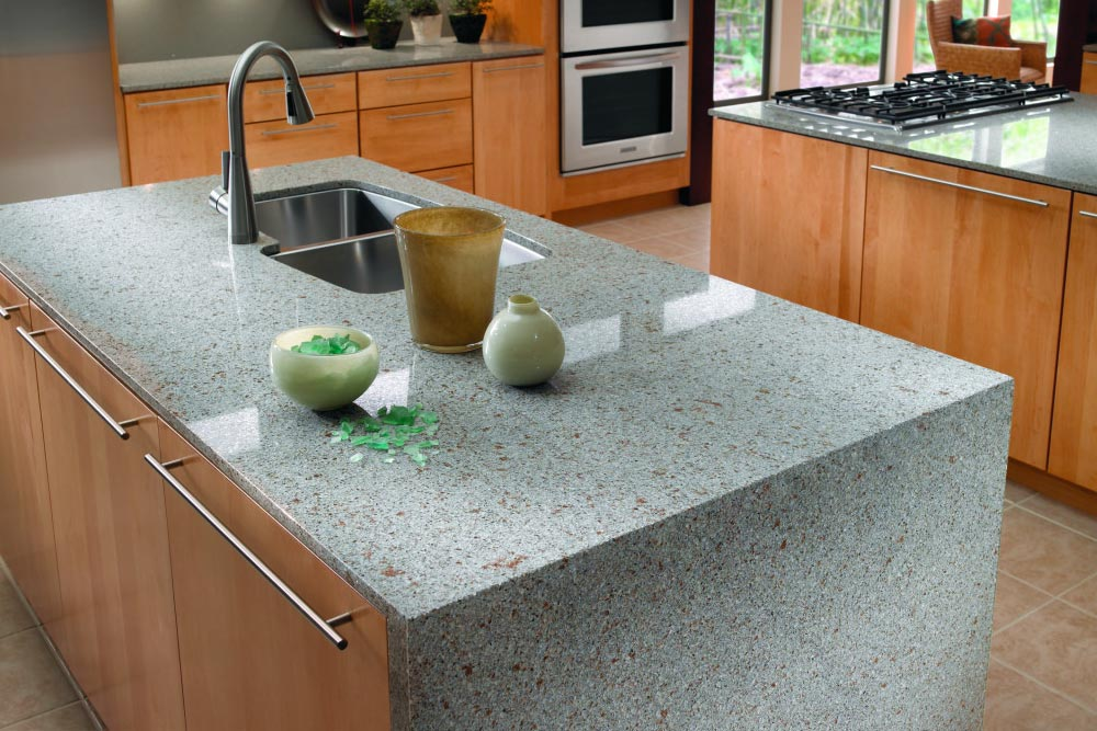 Quartz countertops kitchen silestone riverbed houston granite guy
