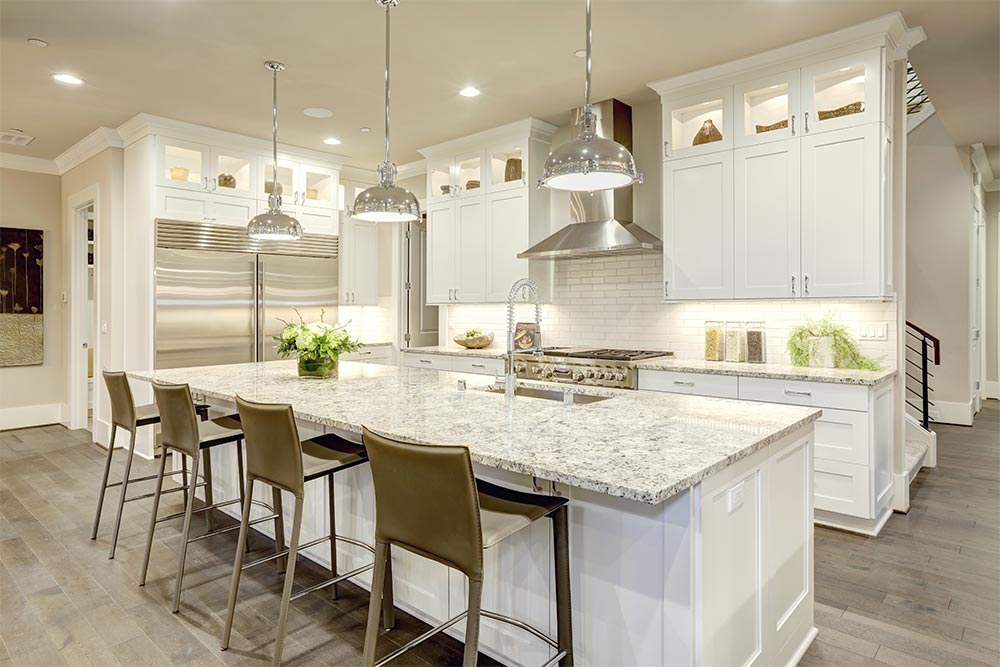 Kitchen Cabinets White Remodel Houston Granite Guy
