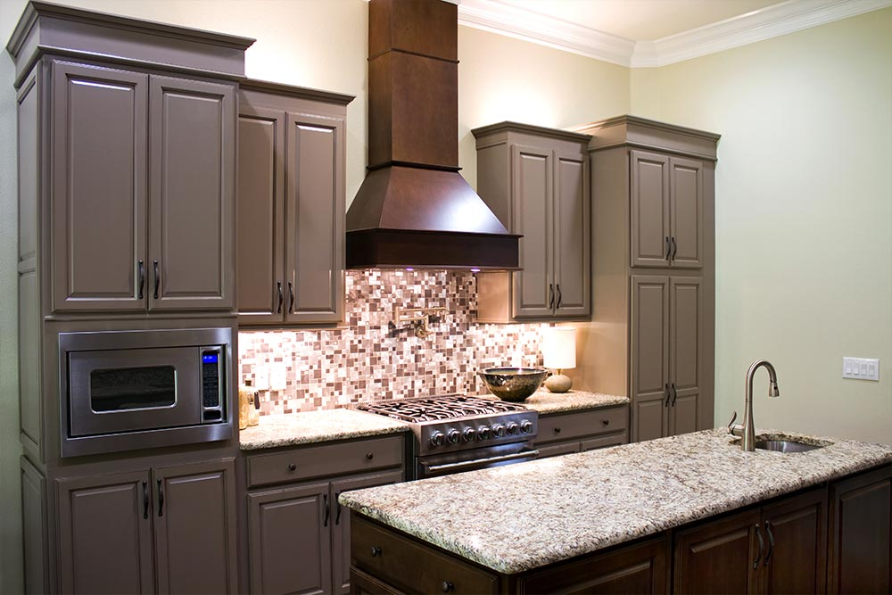 Kitchen Cabinets Dark Remodel Houston Granite Guy
