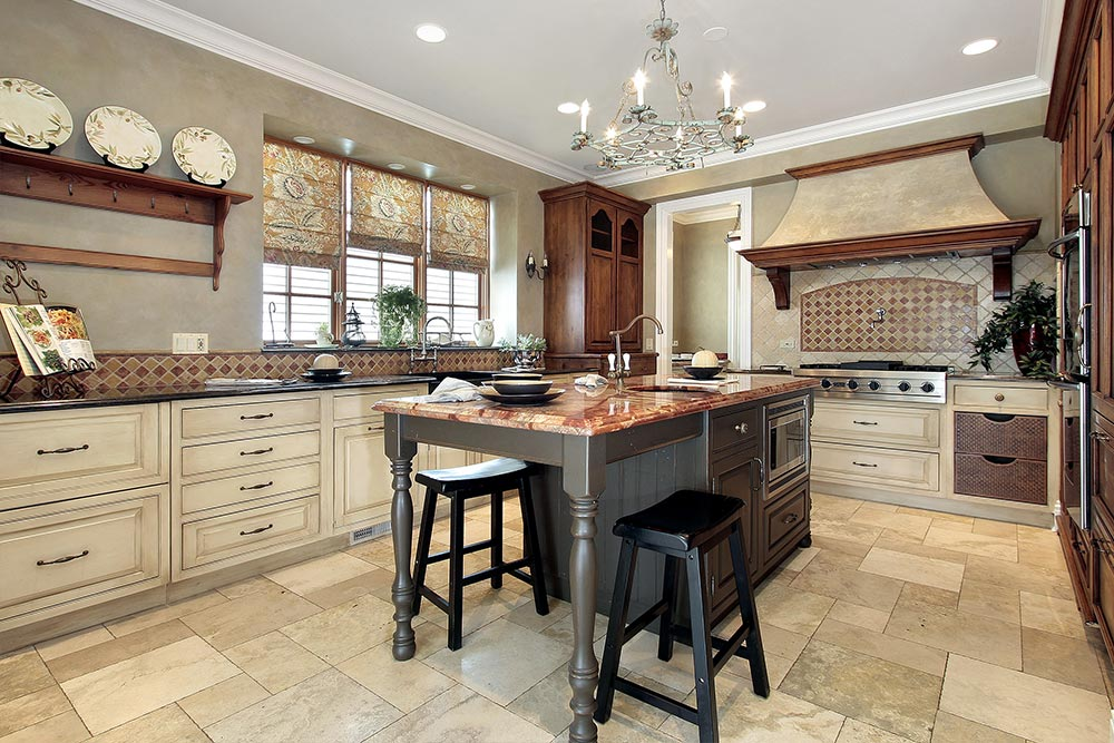 Kitchen Cabinets Tan Remodel Houston Granite Guy