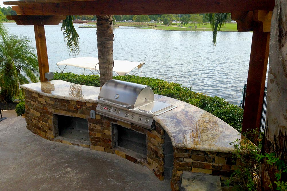 Outdoor Kitchen Island Grill Houston Granite Guy