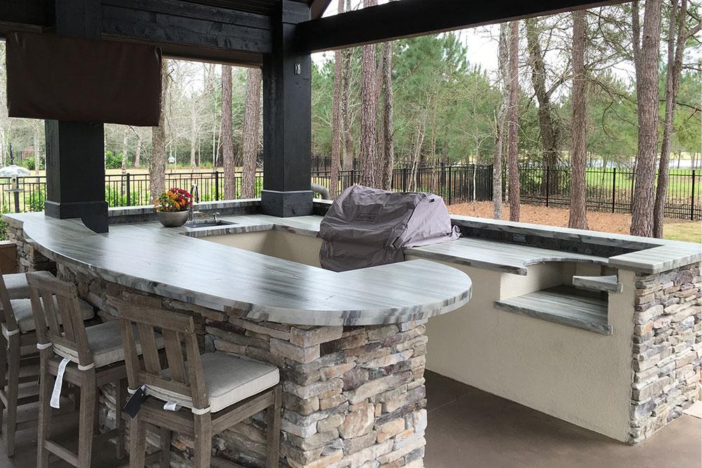 Quartzite Countertops Outdoor Island Grill Houston Granite Guy