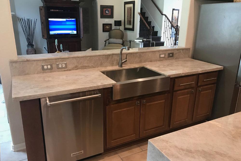 Quartzite Countertops Kitchen Sink Houston Granite Guy
