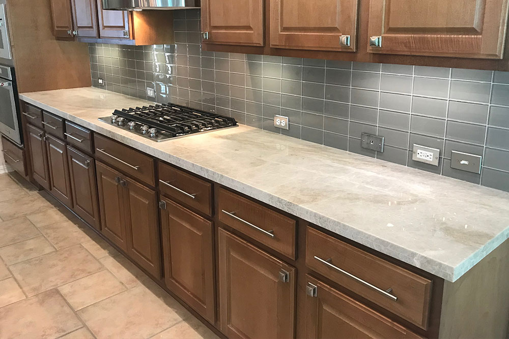 Kitchen Quartzite Countertop Installation
