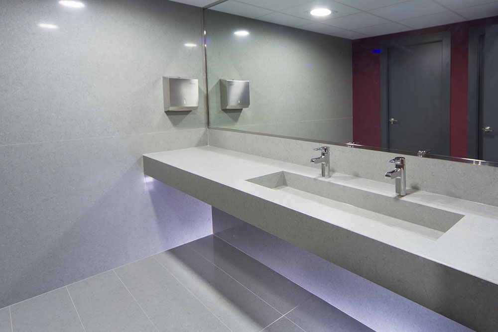 Commercial Construction Hotel Bathroom Houston Granite Guy