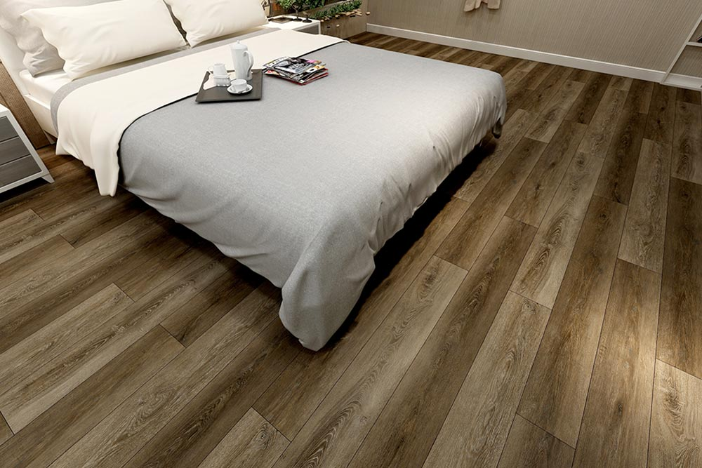 Vinyl Flooring Bedroom Dark Wood Look Houston Granite Guy